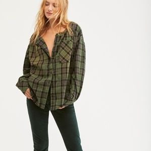 Free People Cozy Dream Flannel Shirt XS
